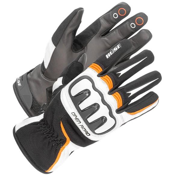 4b6c373f1f3 Moto rukavice Büse Open Road Sport (černá bílá oranžová) - Rukavice ...