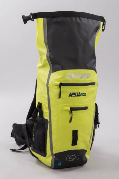 Moto batoh OXFORD Aqua B-25 voděodolný (žlutý fluo) 25 litrů ... 334ba34671