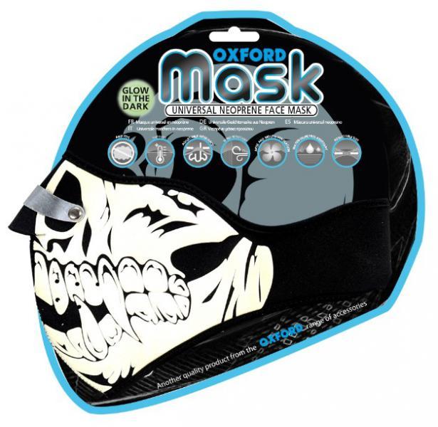 Maska Glow Skull OXFORD fluorescenční potisk 4f349722cb