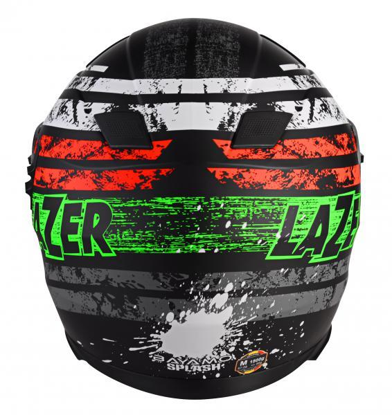 Moto helma Lazer Bayamo Splash (černá matná grafika) - Moto přilby ... 58a19ed066