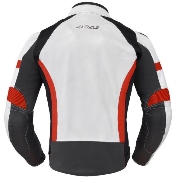 Moto bunda Büse Vermont (bílá černá červená) pánská - Moto oblečení ... 4f0793f5323