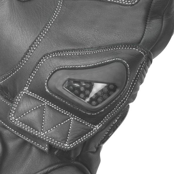 0a50fe6eac9 Moto rukavice Büse Misano (černá bílá žlutá fluo) dámské - Rukavice ...