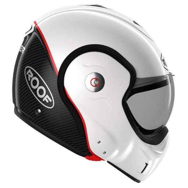 7fdef8f5212 Moto přilba ROOF Boxxer Uni Carbon (bílá) - Moto přilby