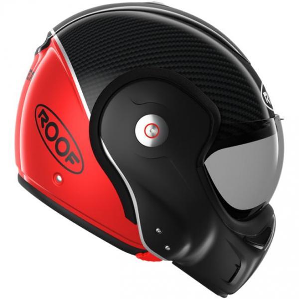 2dc316897de Moto přilba ROOF Boxxer Uni Carbon (červená) - Moto přilby