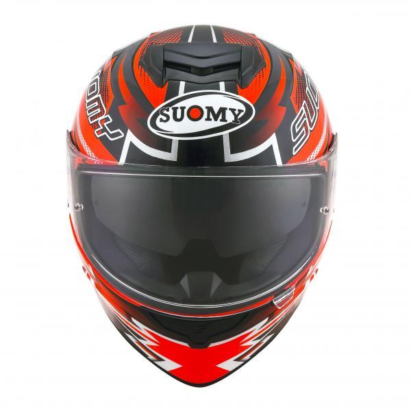 bf8a7828d56 Moto přilba SUOMY STELLAR Boost (černá bílá červená fluo) - Moto ...