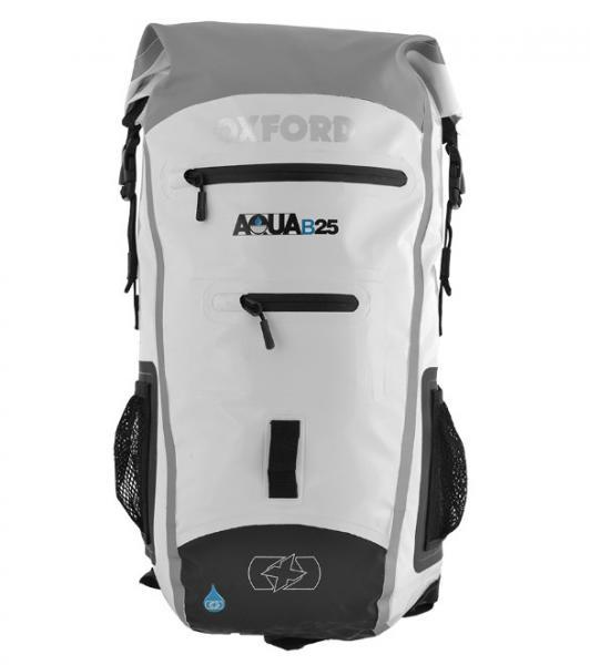 Moto batoh OXFORD Aqua B-25 voděodolný (bílý) 25 litrů 62aa8a35f0