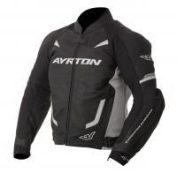 a1be57ce68e8 Moto bunda Ayrton Evoline černá bílá