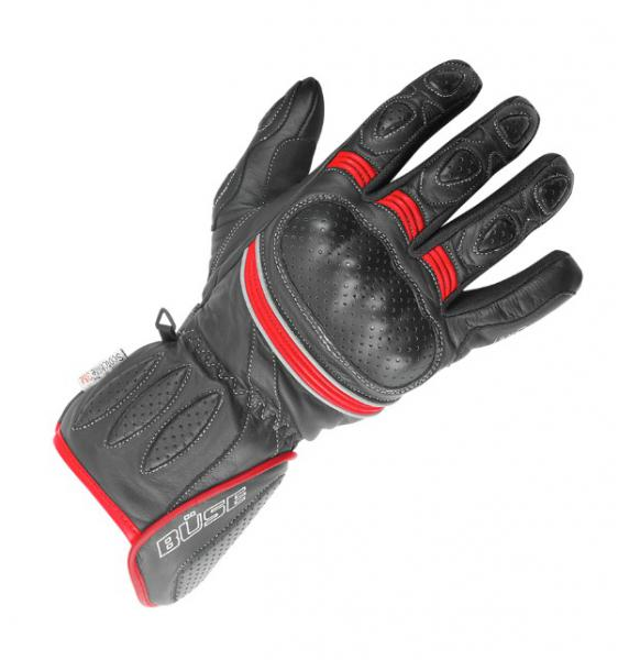 3bd16e8f22b Moto rukavice Büse Pitlane (černá červená fluo) pánské