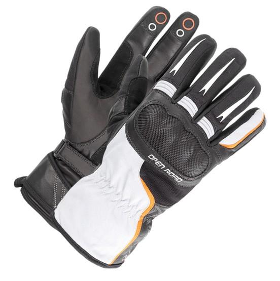 ba462c96d5d Moto rukavice Büse Open Road Touring voděodolné (bílá černá)