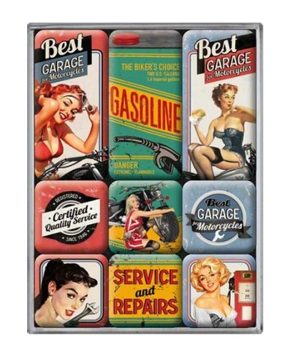 Magnety Pin Up Girls Garage