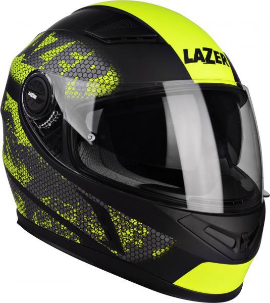 Moto helma Lazer Bayamo Nanotech (černá žlutá fluo mat) 2895ddc37d