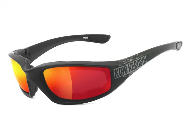 Moto brýle King Kerosin KK140 Laser red