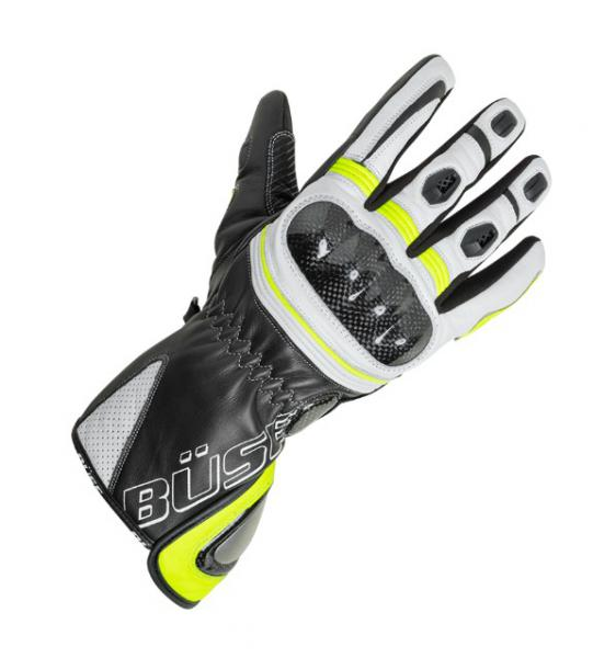cd641dd8f27 Moto rukavice Büse Misano (černá bílá žlutá fluo) dámské