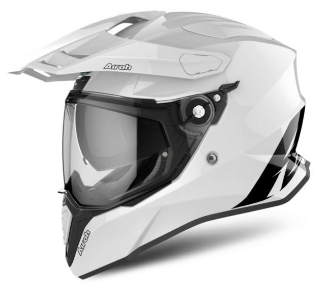 Moto helma AIROH COMMANDER Color (bílá)