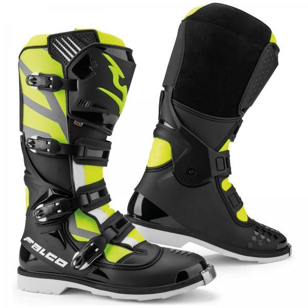 Motokrosové boty FALCO Razor (černá žlutá fluo) b21cb5618b