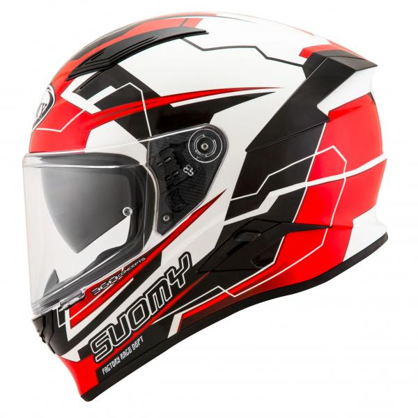 Moto přilba SUOMY SPEEDSTAR Camshaft (černá bílá červená) fff4b84e01