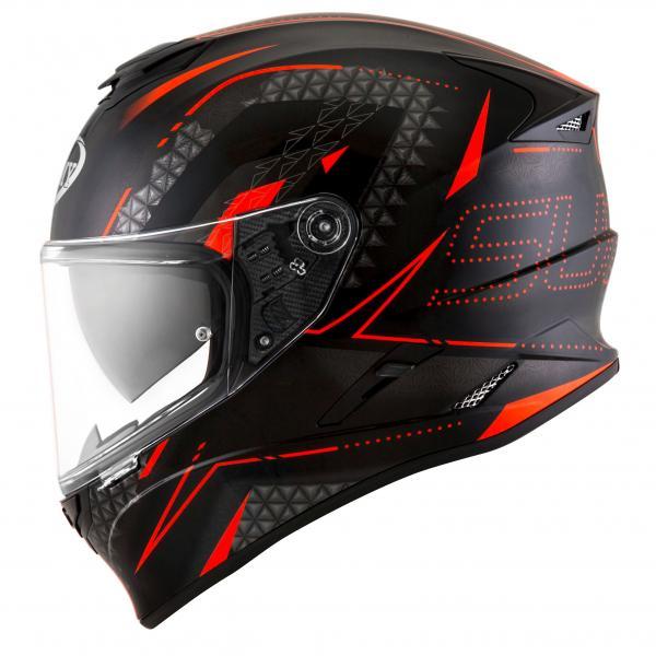 8e666e342f7 Moto přilba SUOMY STELLAR Shade (černá červená fluo)