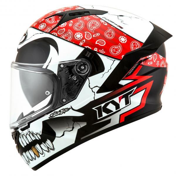 Moto přilba KYT NF-R Pirate (bílá černá červená) b8244139ba