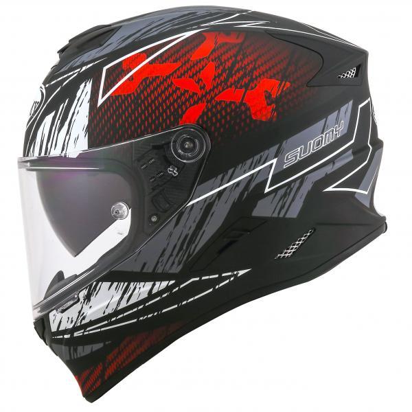 Moto přilba SUOMY STELLAR Phantom (černá šedá bílá červená fluo) 99a5452e7e