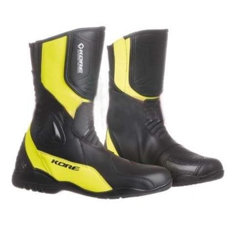 6db4ee6364f Moto boty KORE Sport Touring 2.0 (černé žlutá fluo)